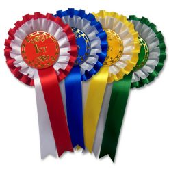 1st - 4th stock 2 tier rosettes