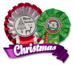 Christmas Rosettes