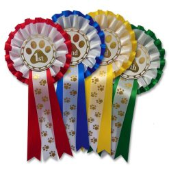 1st - 4th dog show rosettes