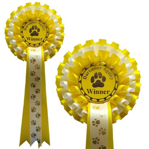 3 Tier Personalised Dog Show Rosette