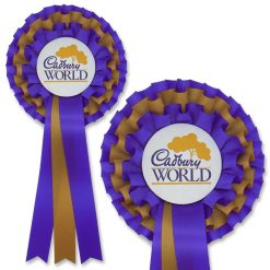 2 colour 3 tier promotional rosette