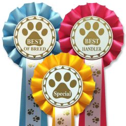 Choose your own award 1 tier Pawprint Rosettes