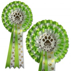 4 tier pawprint rosette choose your award