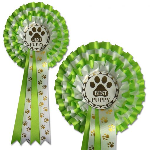 4 tier pawprint rosette choose your award