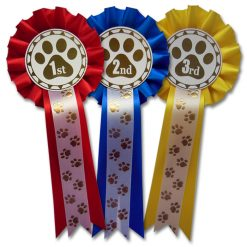 1st - 3rd paw print rosettes