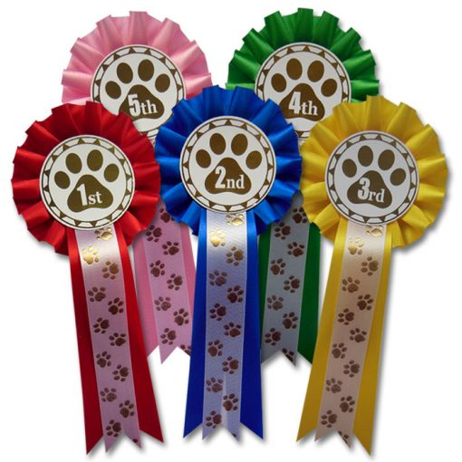 1st - 5th dog show rosettes