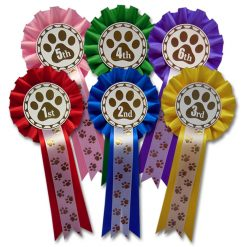 1st - 6th dog show rosettes