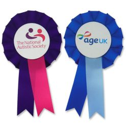2 colour cheap promotional rosette