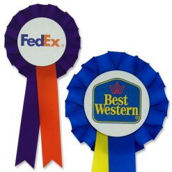 two colour promotional rosette