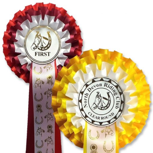 3 tier Personalised Horse Show Rosette