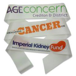 full colour print fundraising sashes