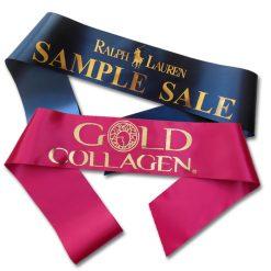 gold print sash
