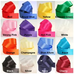polyester sash ribbon colours