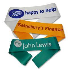 1 colour promotional sash