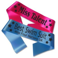 star design beauty queen sash