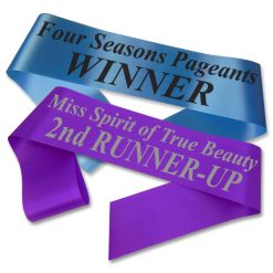 text print pageant sash