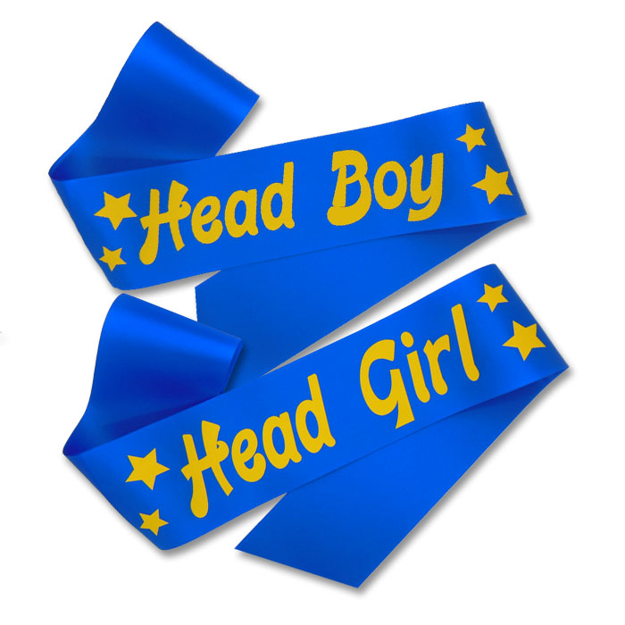Head Boy and Head Girl Sash - Frosts Rosettes