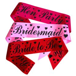 hearts and script sashes