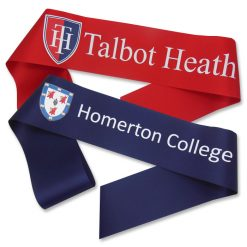 school logo sashes