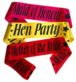 star hen party sash