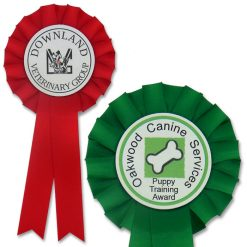 1 tier personalised dog rosette