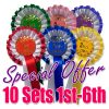 10 sets 2 tier rosettes 1st - 6th