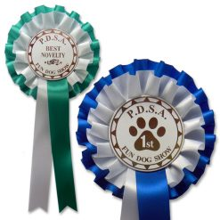 2 tier dog club rosette
