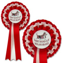 3 tier dog club rosette