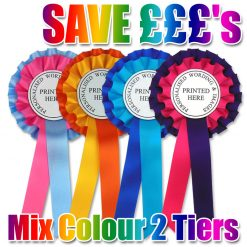 2 tier mixed colour rosettes