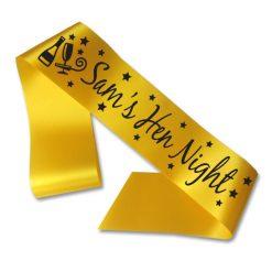 celebration party sash