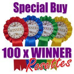 100 winner rosettes