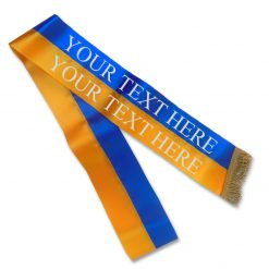blue and gold sash