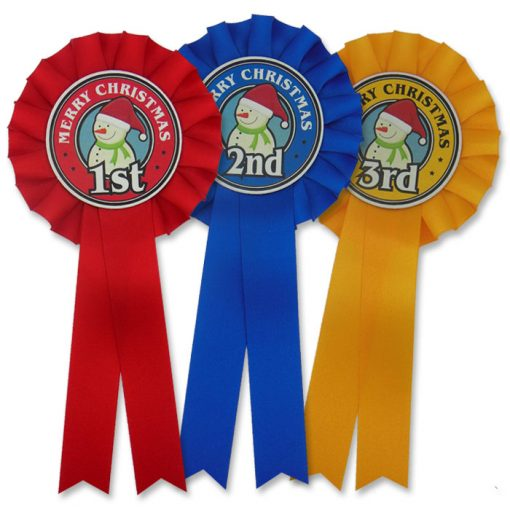 frosty snowman rosettes 1st - 3rd