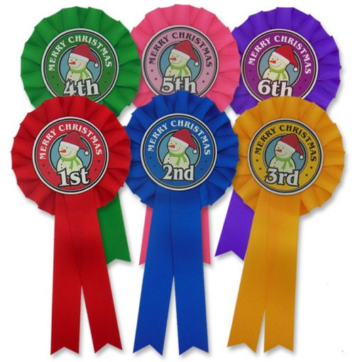 frosty snowman rosettes 6th