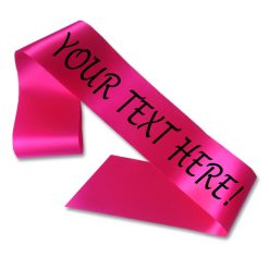 hot pink personalised sash