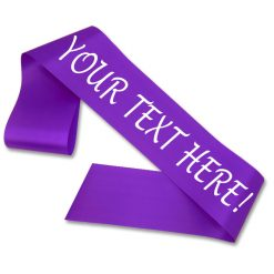 purple personalised sash
