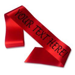 red personalised sash