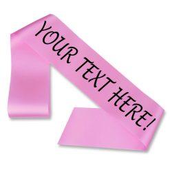 strong pink personalised sash