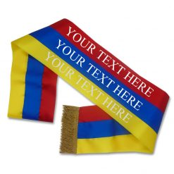 red blue yellow tricolour sash