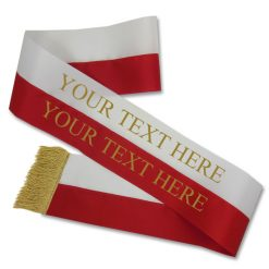 red and white sash