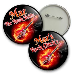 rock and roll hen party badge