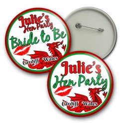 welsh hen party badges