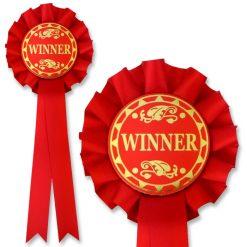 winner red rosette