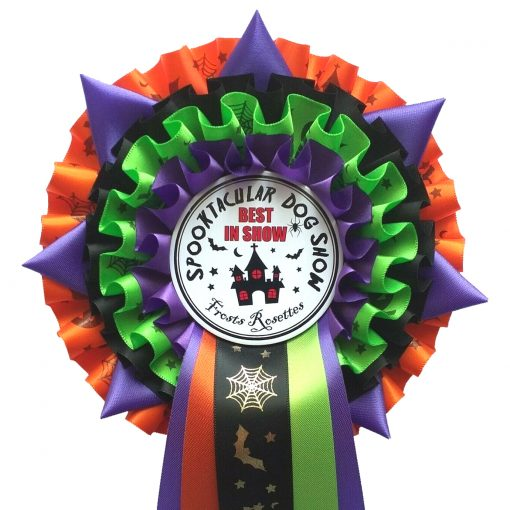 personalised halloween rosette 4tier