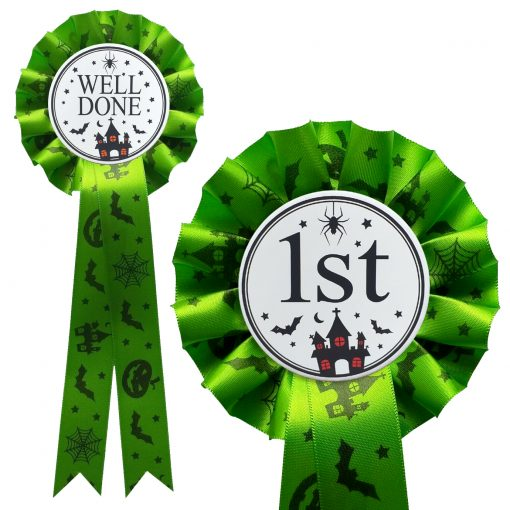 personalised halloween rosette green