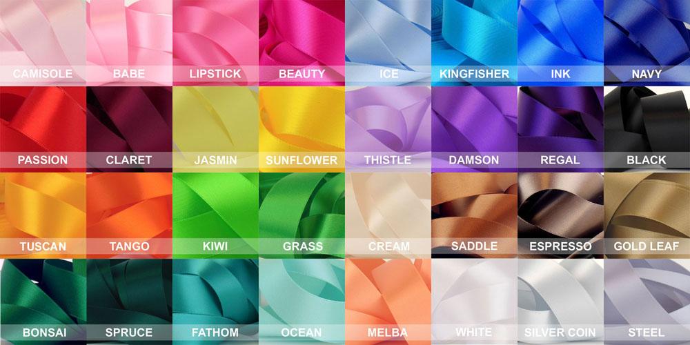 premium rosette ribbon colours